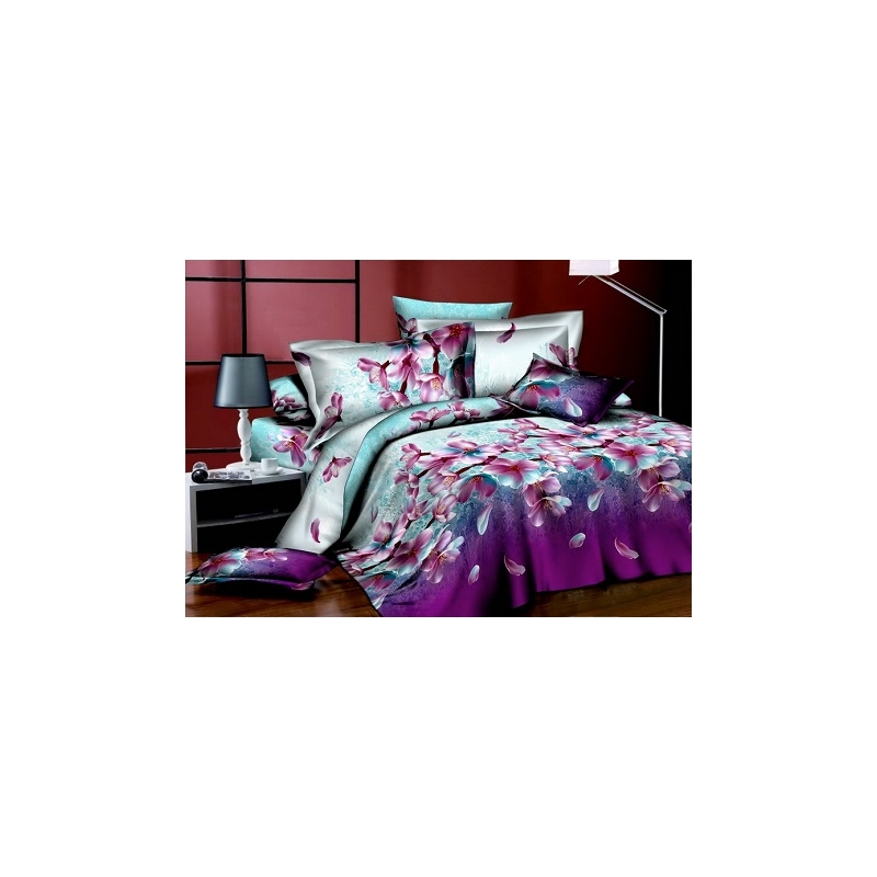 Puuvillasatiinist voodipesukomplekt 200x220/50x60x2