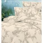Puuvillasatiinist voodipesukomplekt 200x205/2x50x60