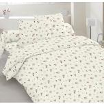 Puuvillasatiinist voodipesukomplekt 150x210/50x60
