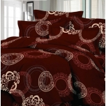 Puuvillasatiinist voodipesukomplekt 150x205/50x60 cm